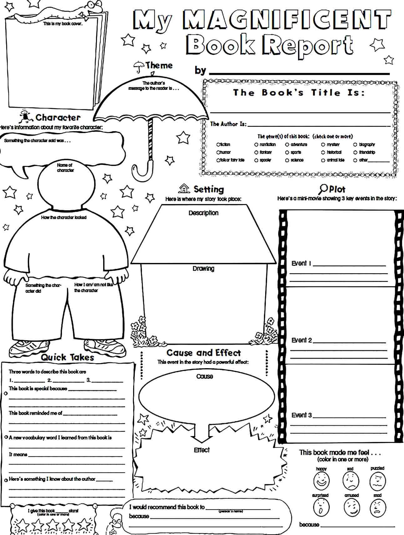 Sample Magnificent Book Report Template Sample