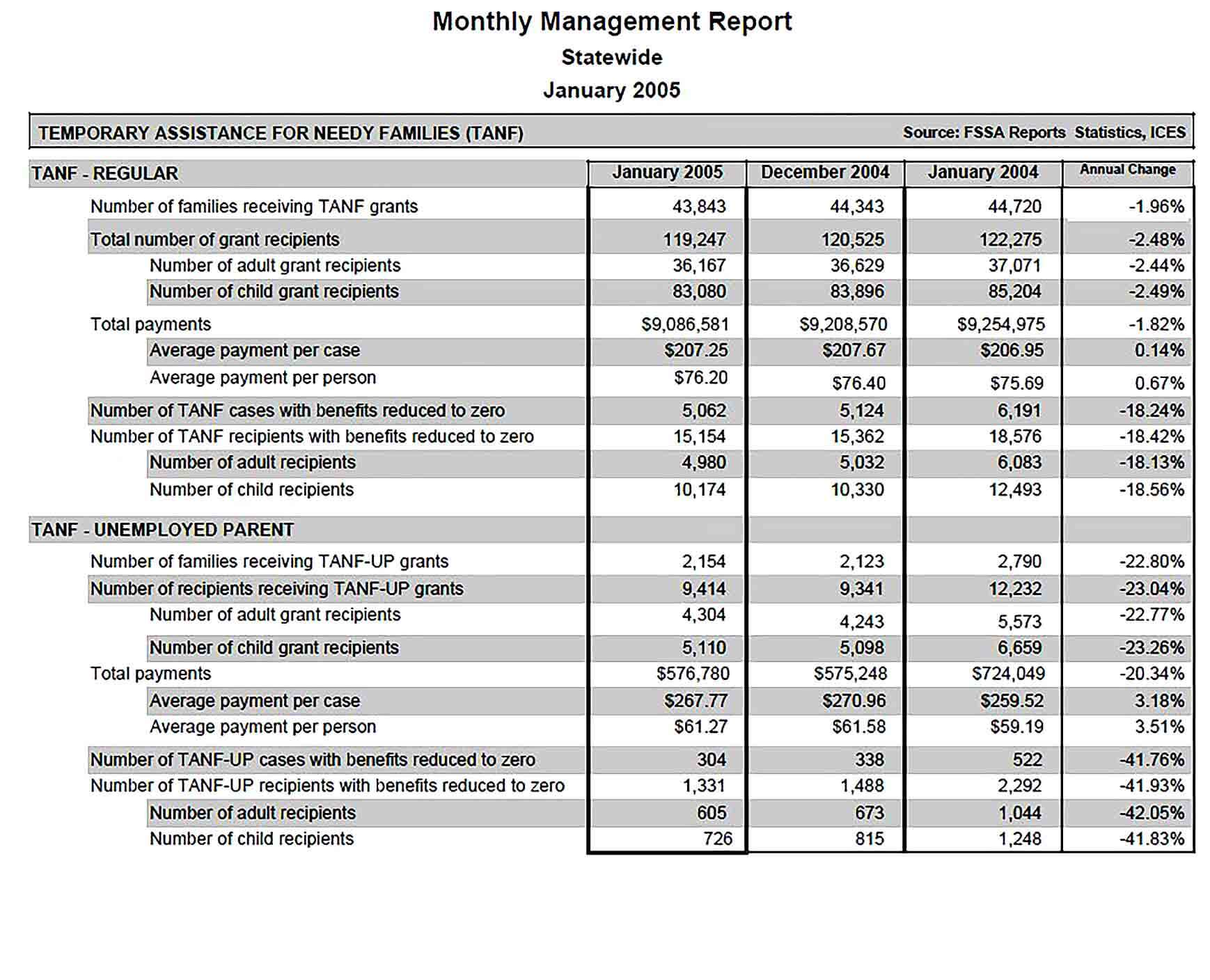 Sample PDF Format Monthly Management Report Template