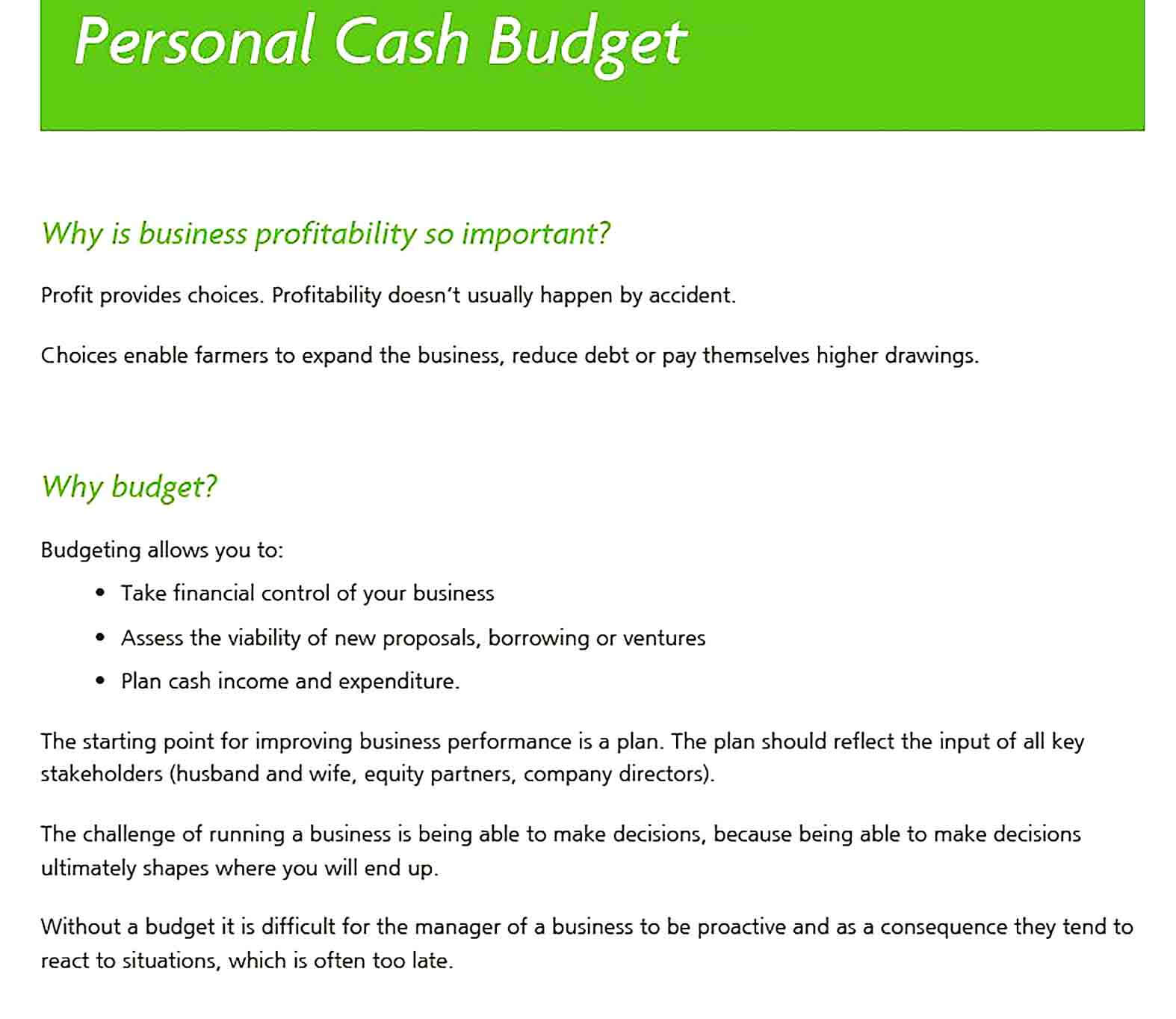 Sample Personal Expense Report Example