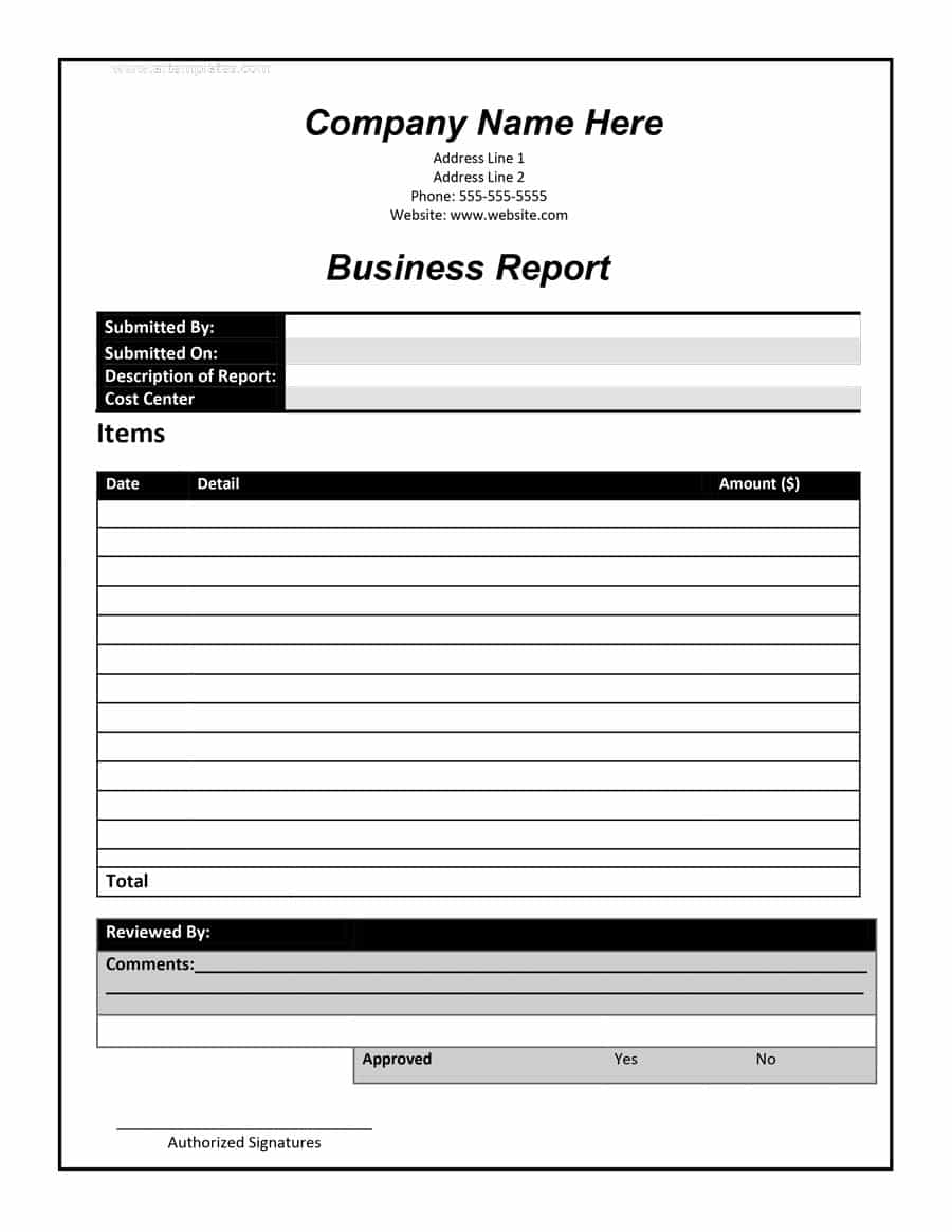 business report format3