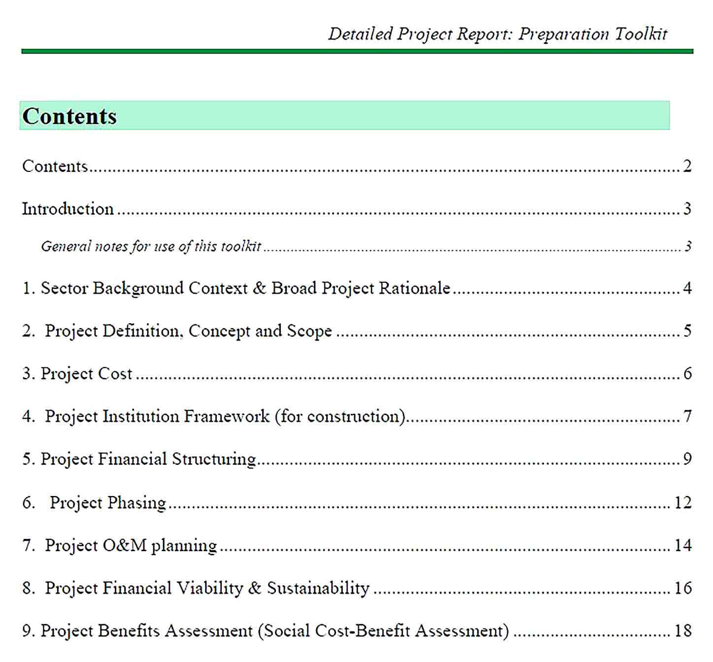 Sample Detailed Project Report Format