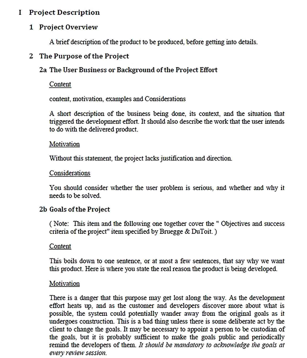 Sample Software Project Report Template Example