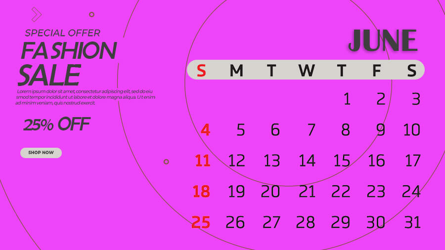 Calender in photoshop