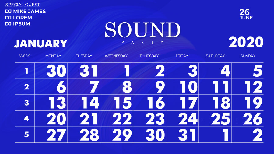 Calender templates for photoshop