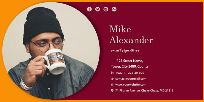 Email Signature templates for photoshop