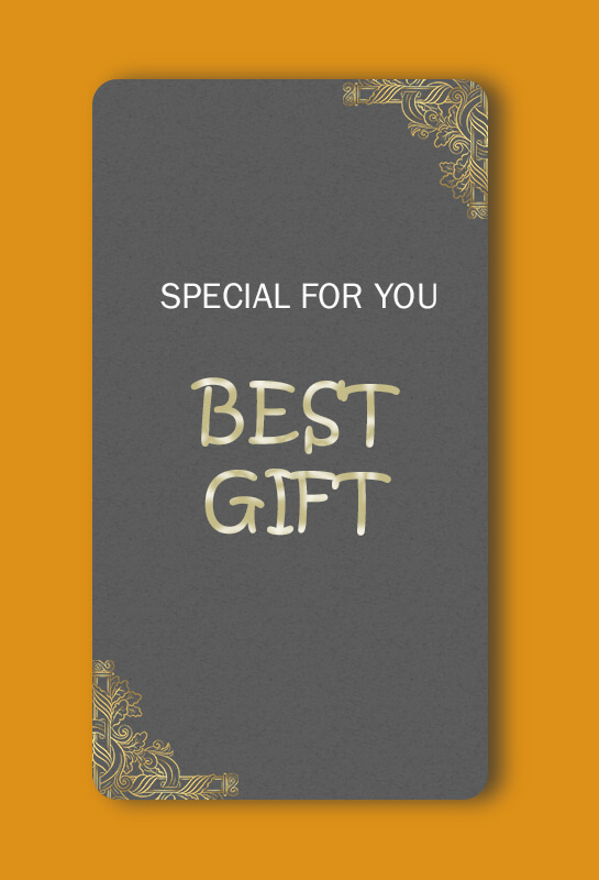 Gift Card example psd design
