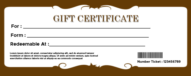 Gift Certificate templates in psd design