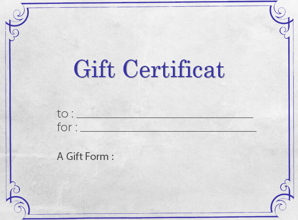 Gift Certificate templates psd templates
