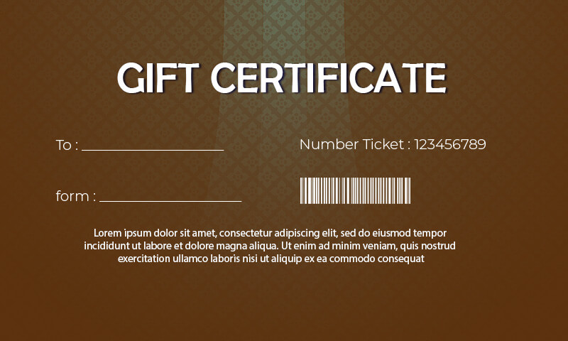 Gift Certificate templates templates for photoshop