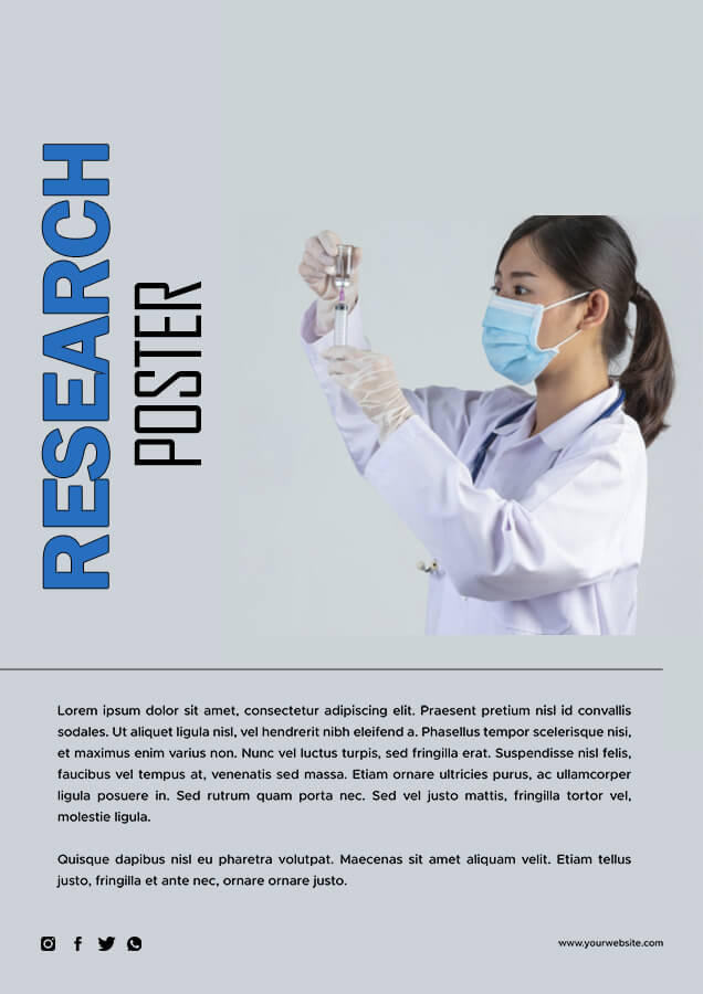 Research Poster in photoshop