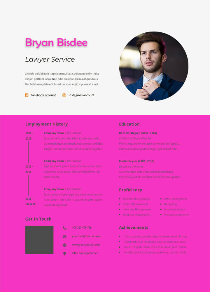 Resume templates in photoshop