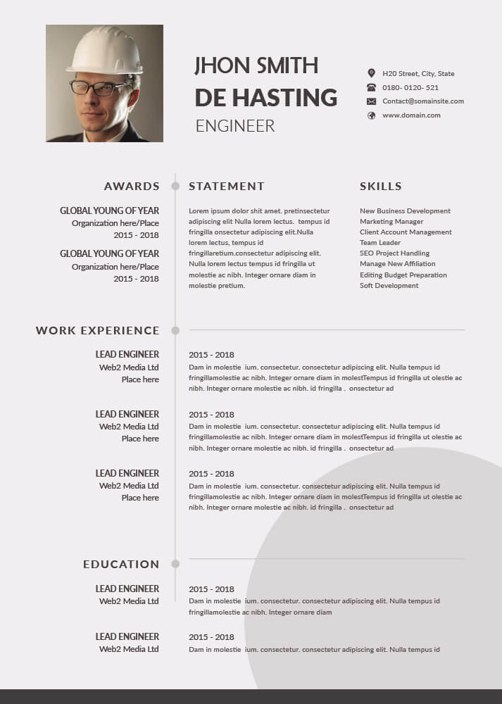 Resume templates templates for photoshop