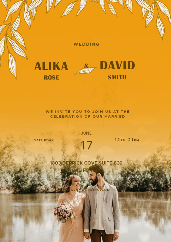 Wedding Invitation example psd design