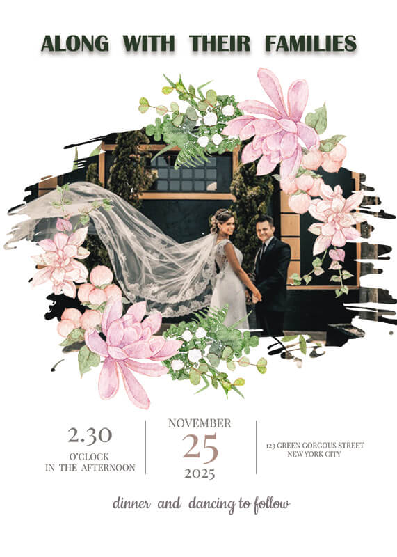 Wedding Invitation in photoshop