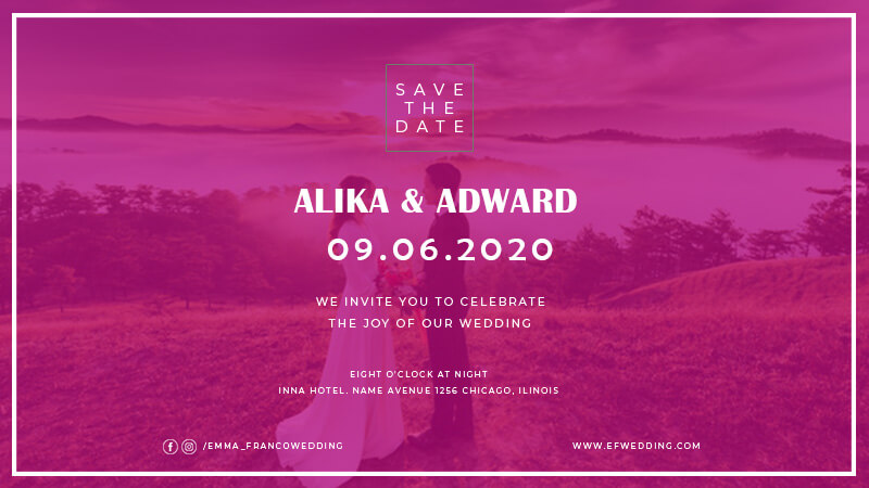 Wedding Invitation in psd design