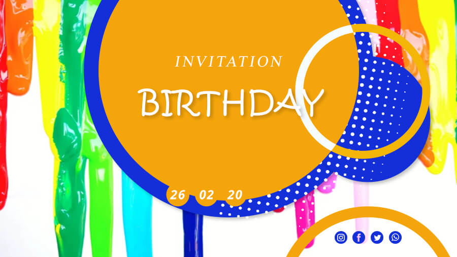 birthday invitation customizable psd design templates