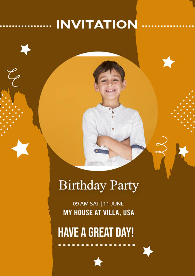 birthday invitation example psd design