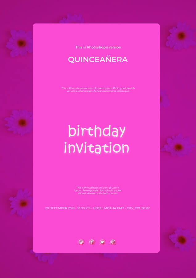 birthday invitation in photoshop