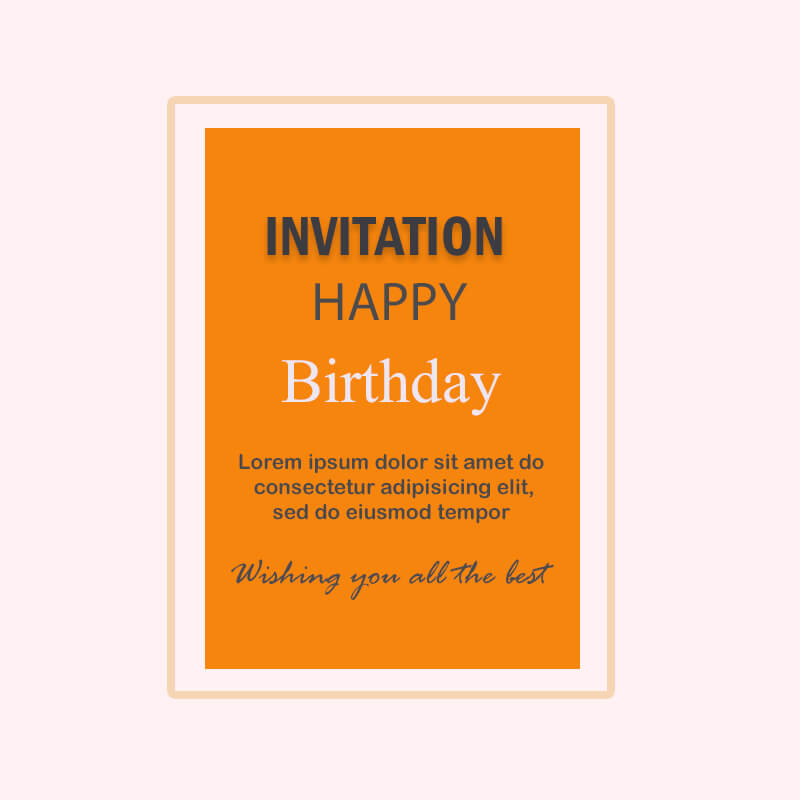 birthday invitation psd templates