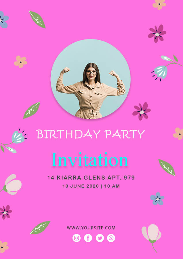 birthday invitation psd