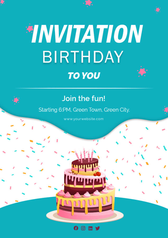 birthday invitation templates for photoshop