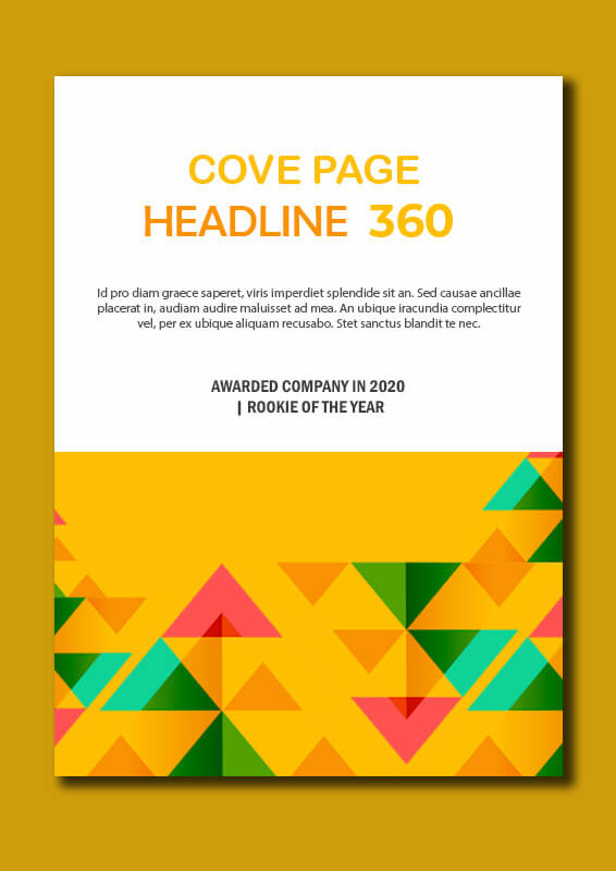 cover page in psd design