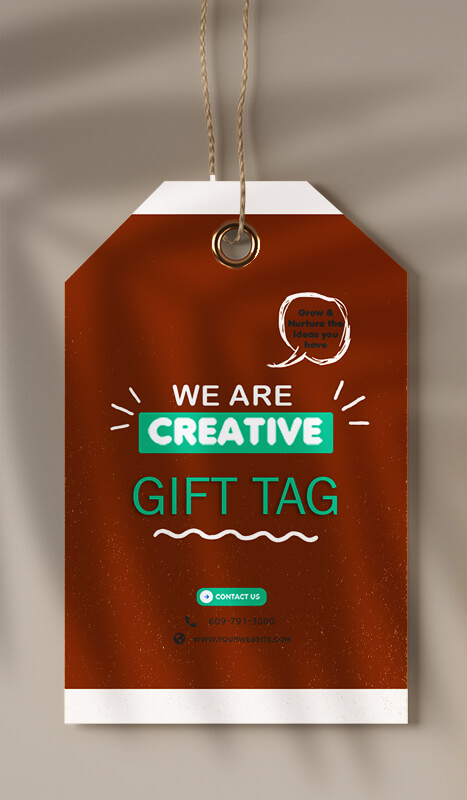 gift tag in photoshop