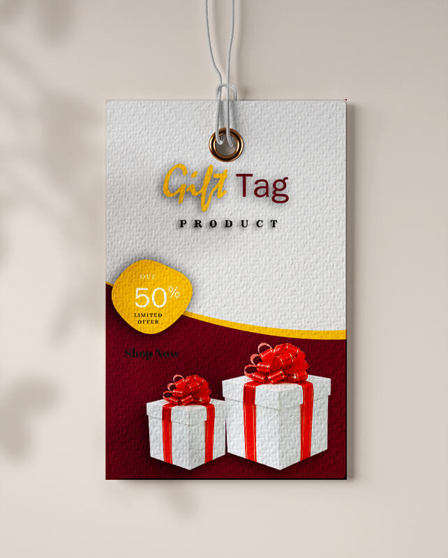 gift tag templates psd