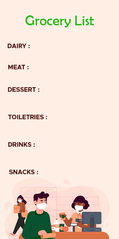 grocery list in photoshop