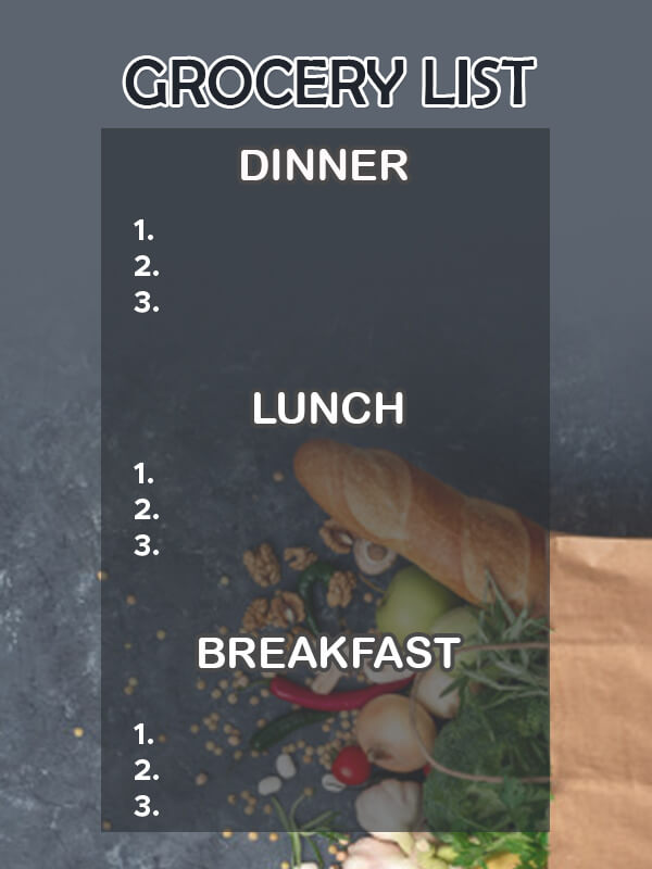 grocery list in psd design