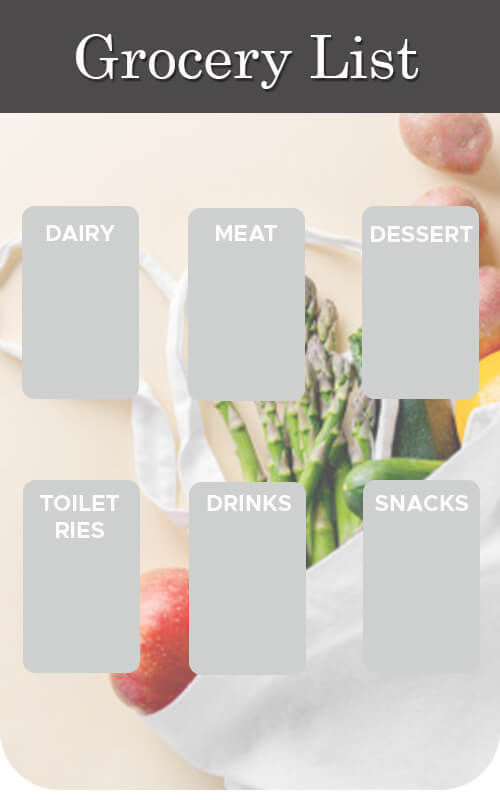 grocery list templates for photoshop