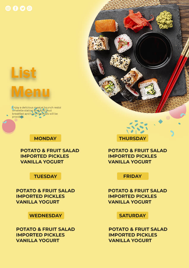meal planning in photoshop
