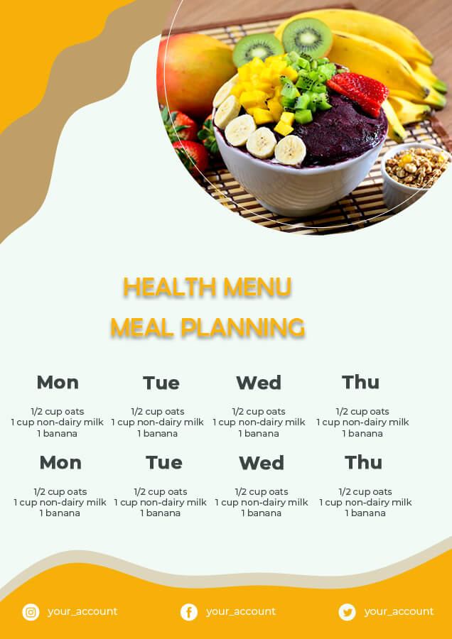 meal planning psd