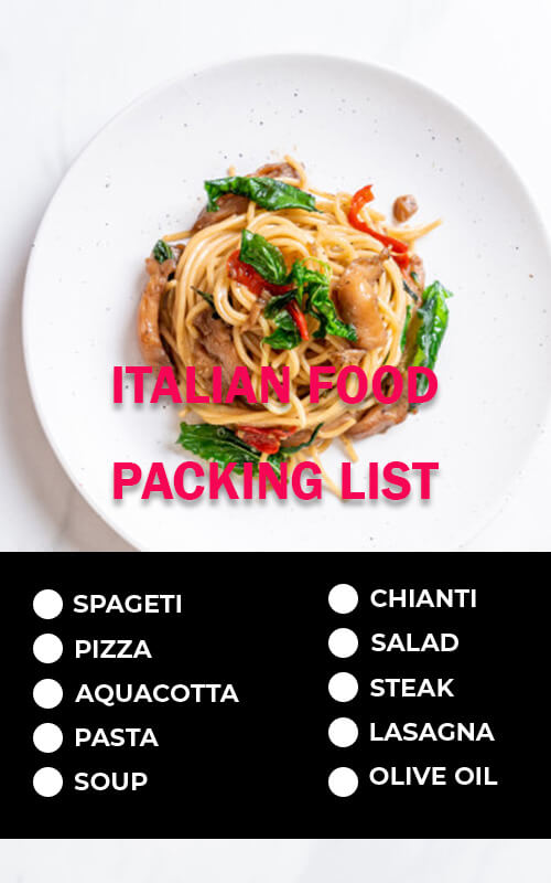 packing list in psd design