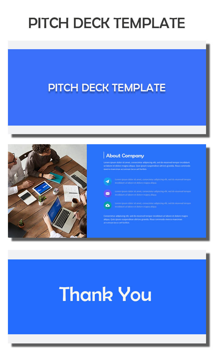 pitch deck example psd design