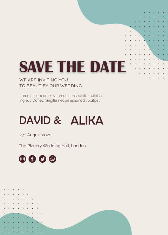 save the date psd templates
