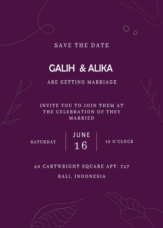 save the date templates psd