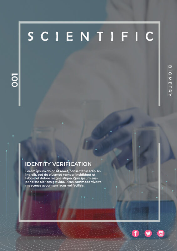 scientific poster example psd design