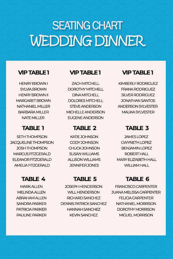 seating chart psd templates