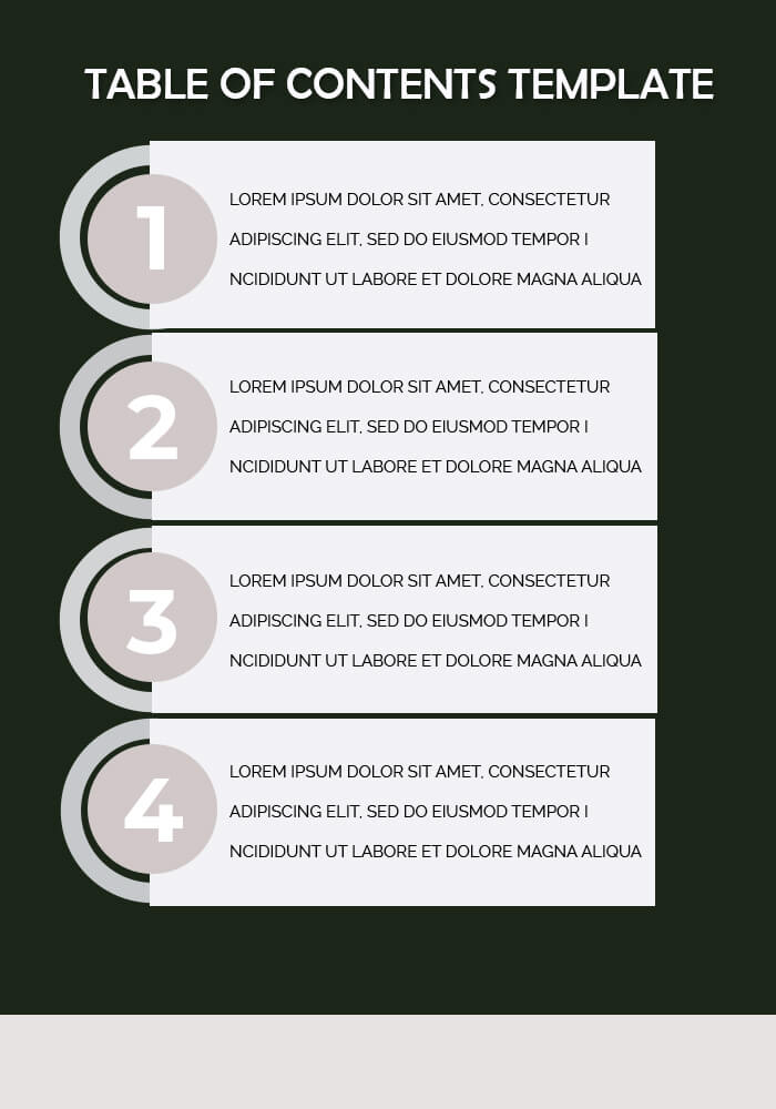 table of contents templates example psd design