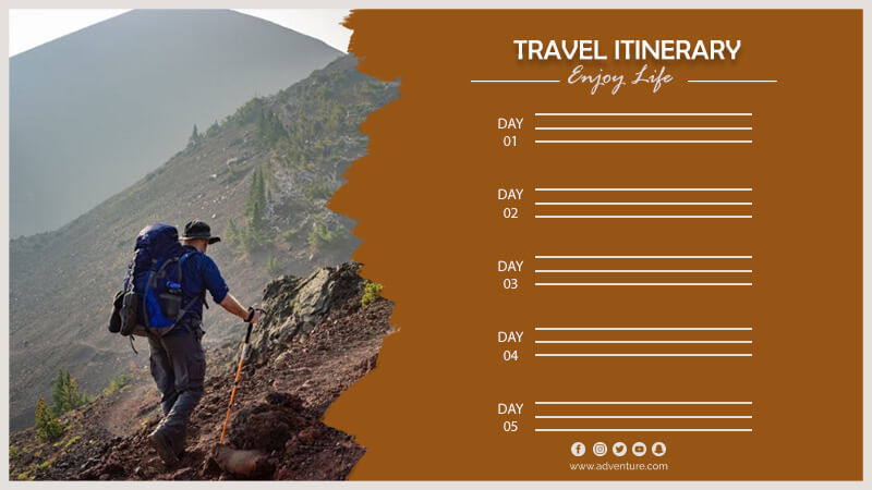 travel itinerary templates for photoshop