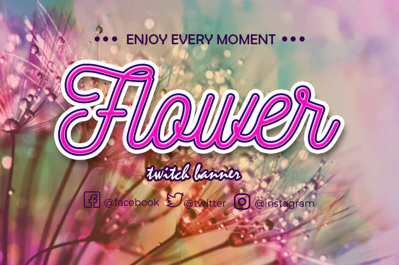 twitch banner templates psd