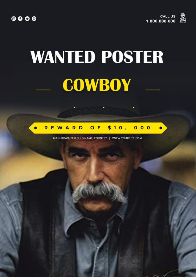 wanted poster example psd design