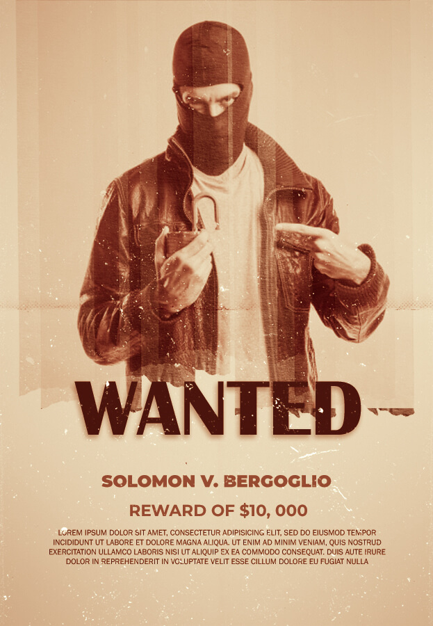 wanted poster in psd design