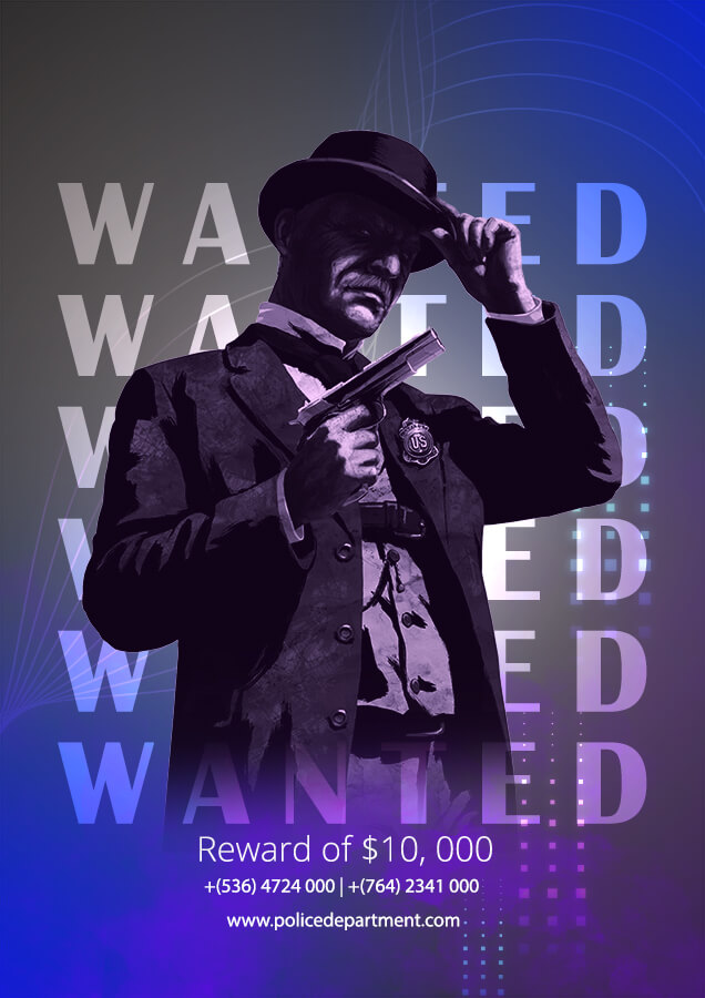wanted poster psd templates