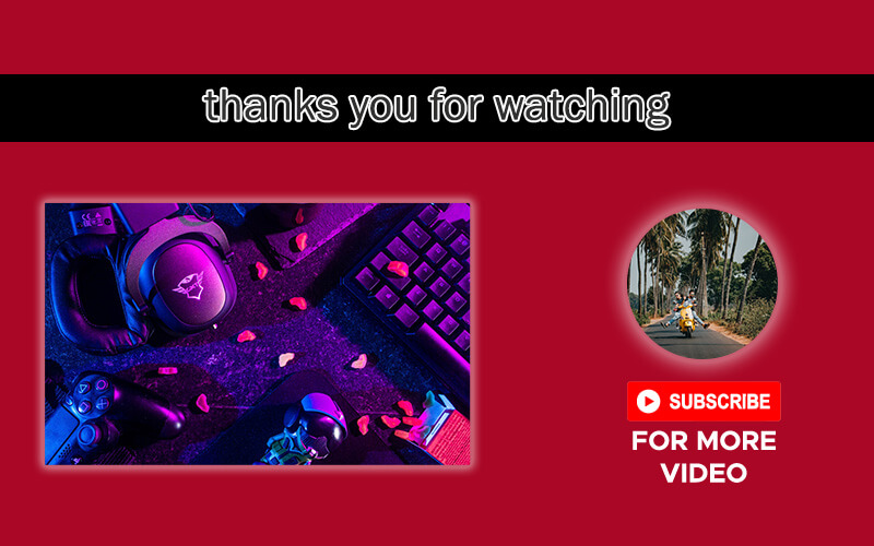 youtube end screen customizable psd design templates