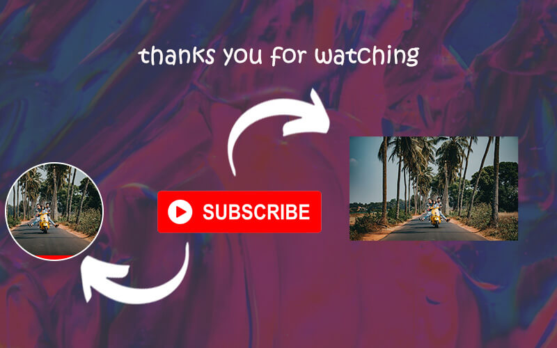 youtube end screen templates psd