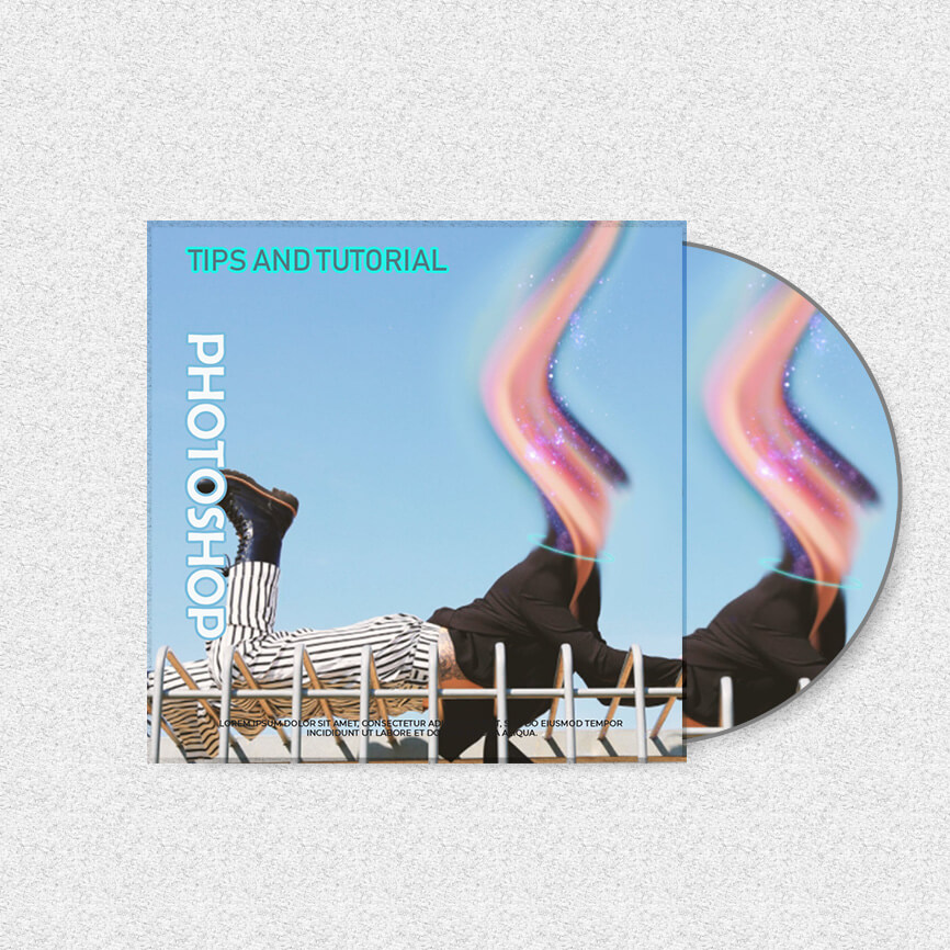 CD cover example psd design