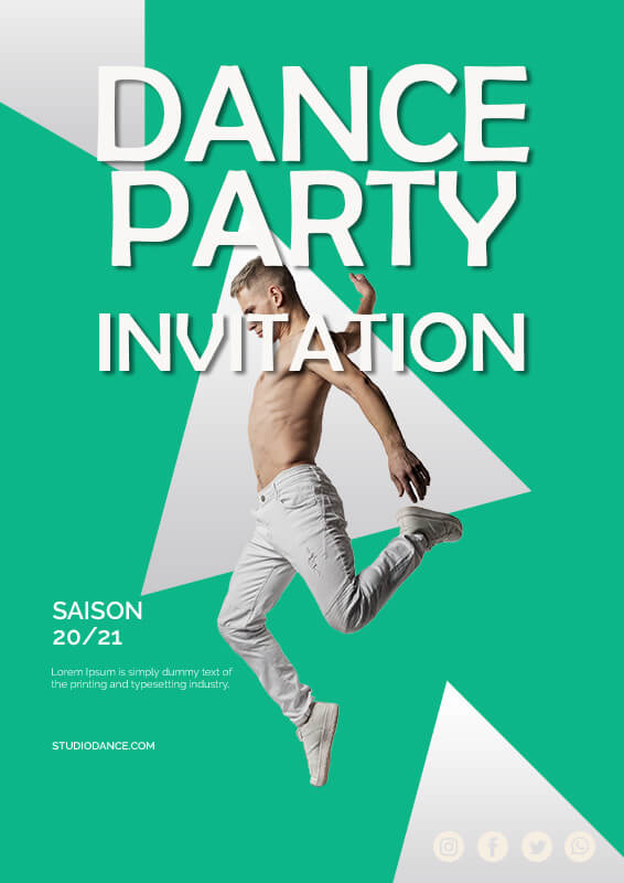 party invitation in photoshop