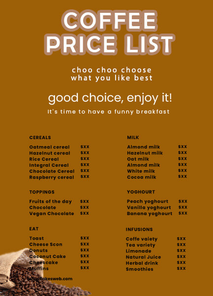 price list templates for photoshop